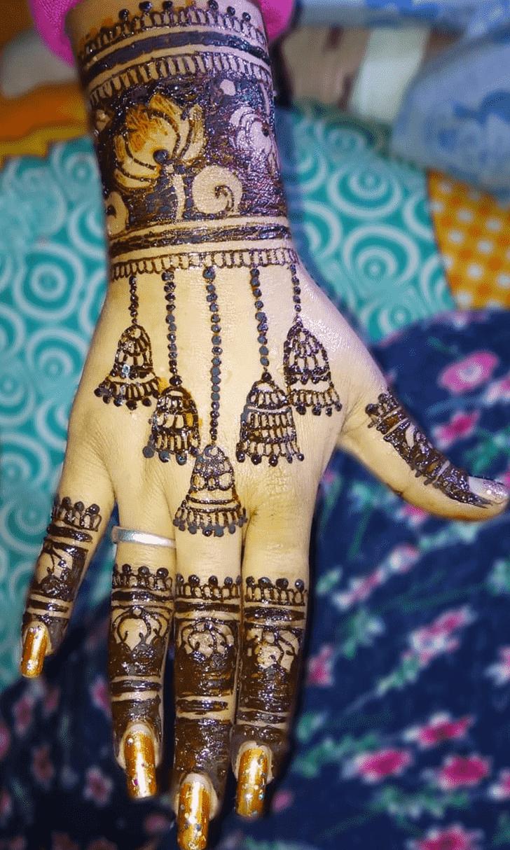 Appealing Earrings Henna Design