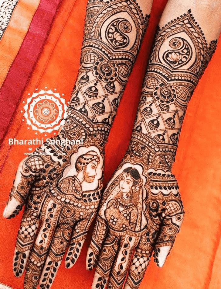 Captivating Earrings Henna Design