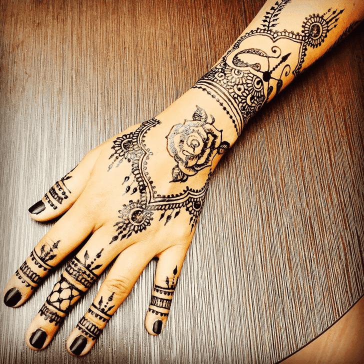 Divine Easter Henna Design