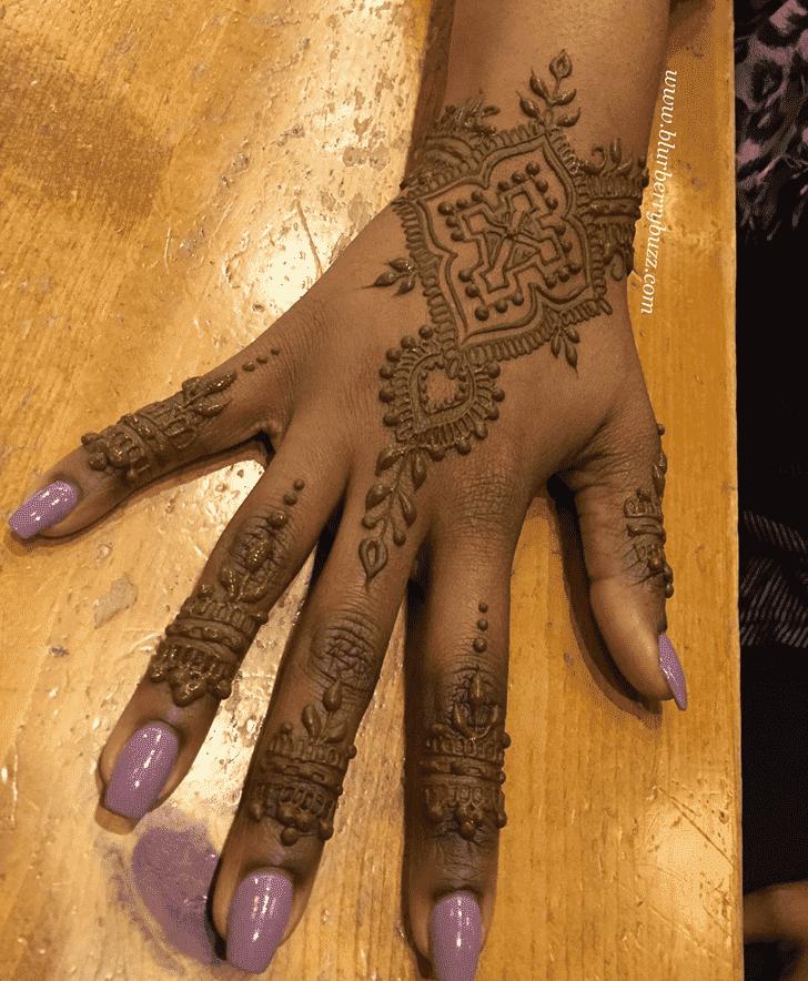Handsome Easter Henna Design