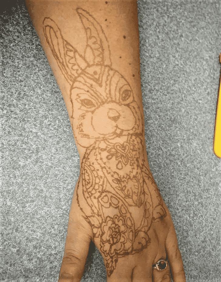 Nice Easter Henna Design
