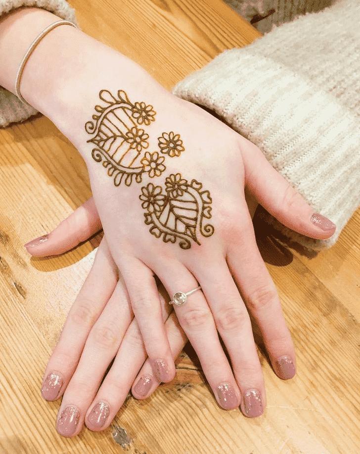 Pleasing Easter Henna Design
