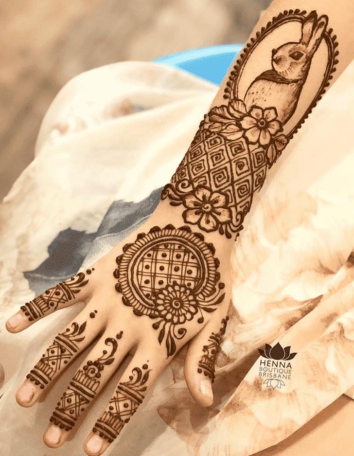 Refined Easter Henna Design