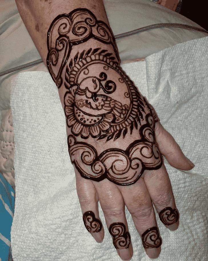 Shapely Easter Henna Design