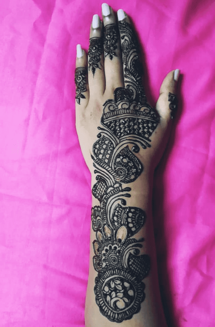 Appealing Easy Henna Design