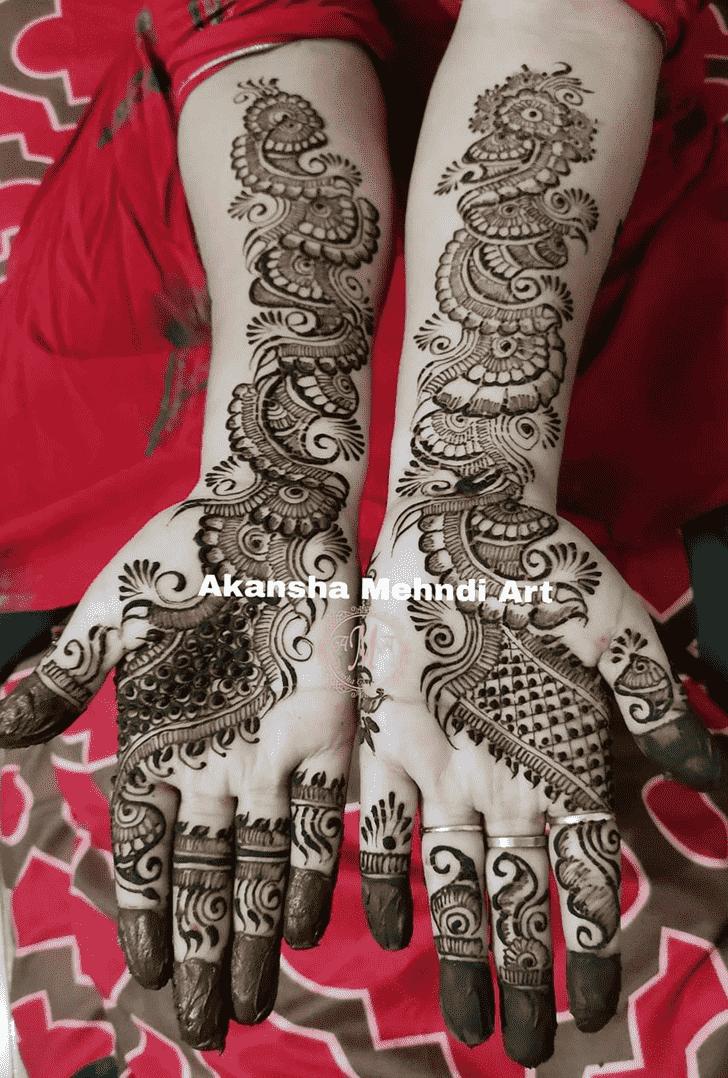 Refined Egyptian Henna Design