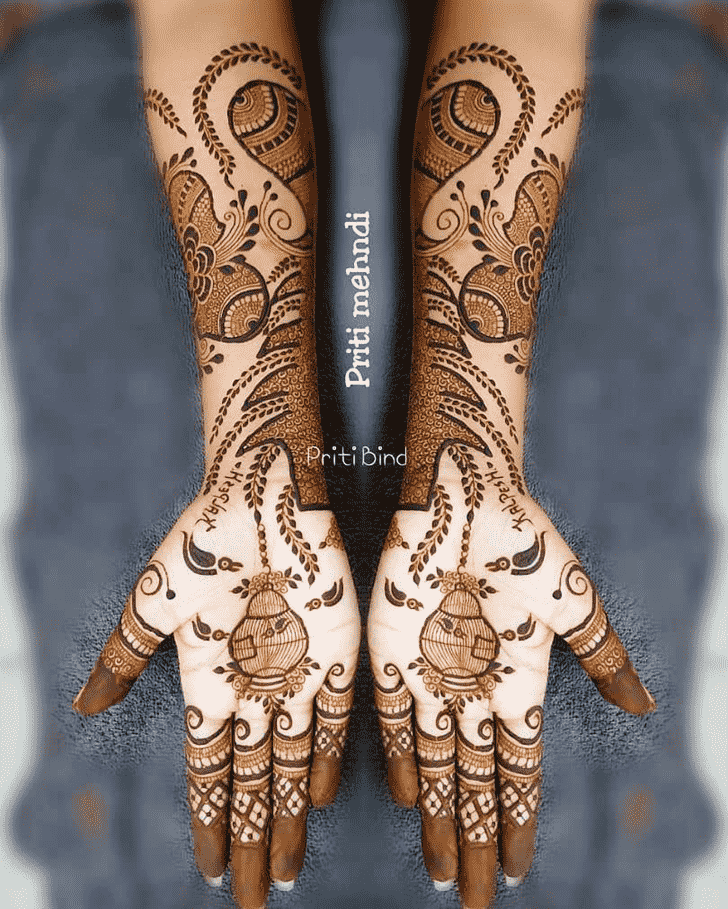 Charming EID Henna Design