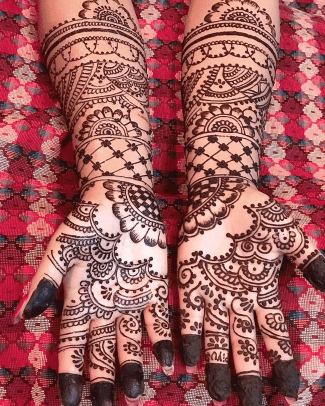 Adorable Ekadashi Henna Design