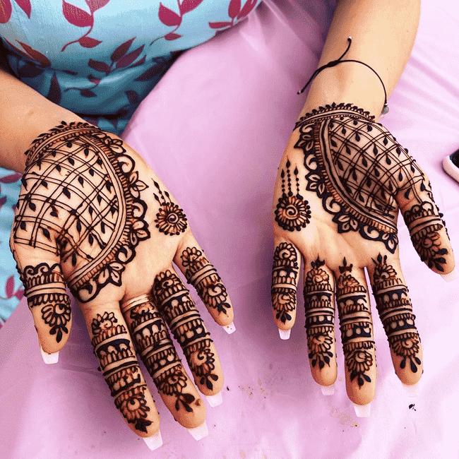Captivating Ekadashi Henna Design