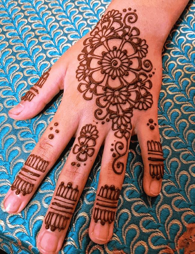 Classy Ekadashi Henna Design