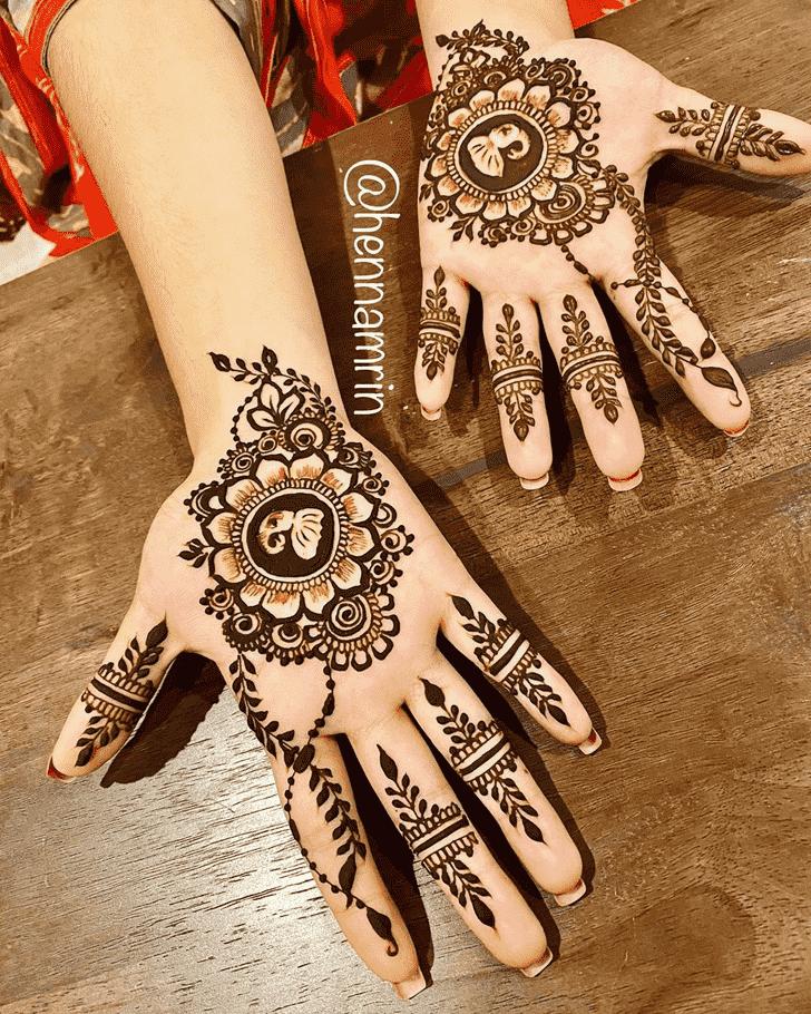 Adorable Elephant Henna Design