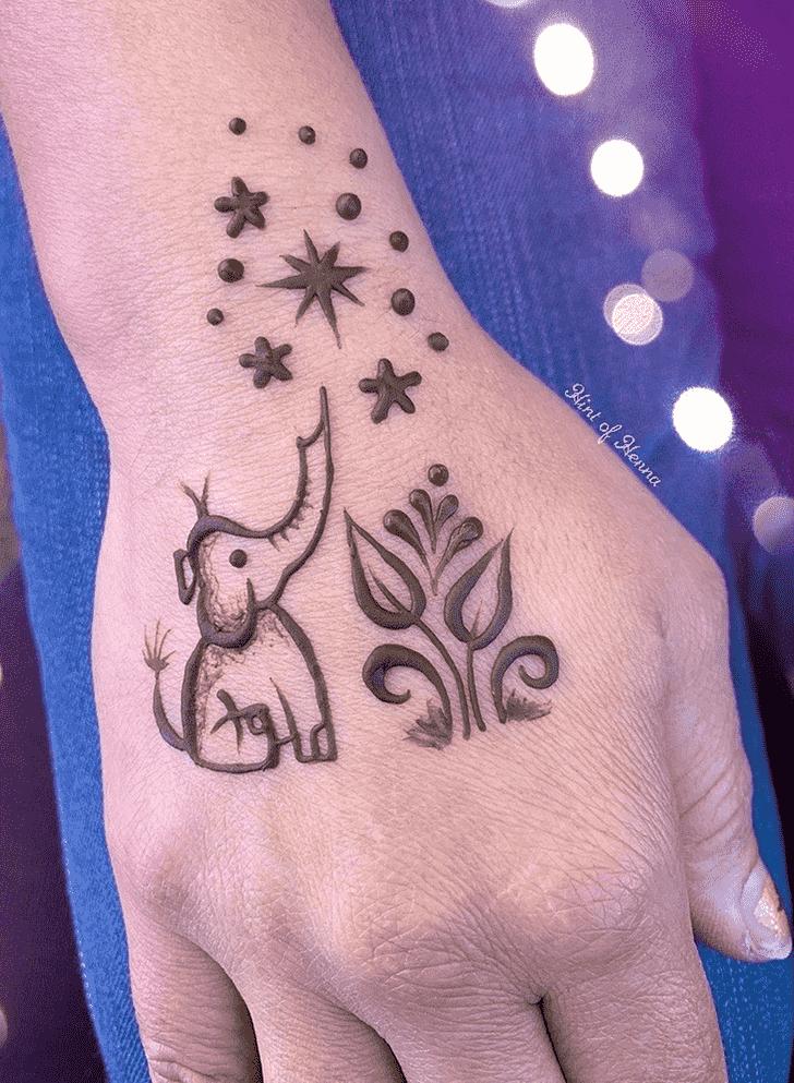 Appealing Elephant Henna Design
