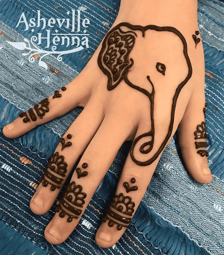 Bewitching Elephant Henna Design