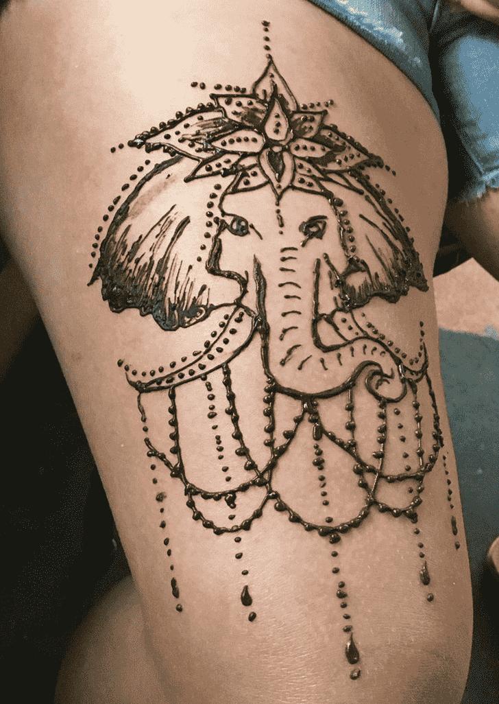 Captivating Elephant Henna Design
