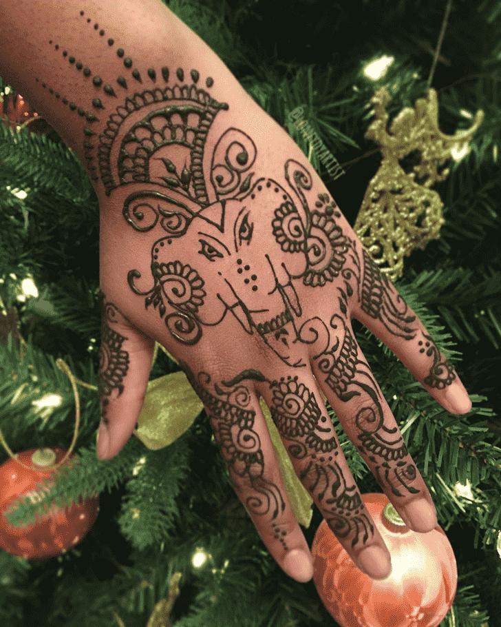 Charming Elephant Henna Design