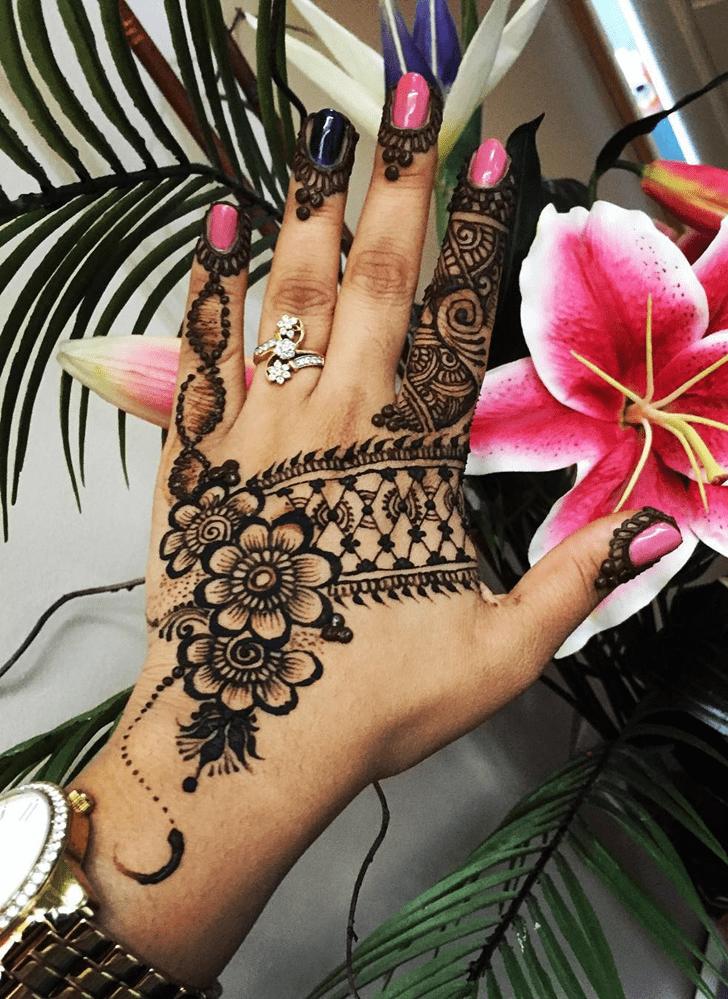 Adorable Engagement Henna Design