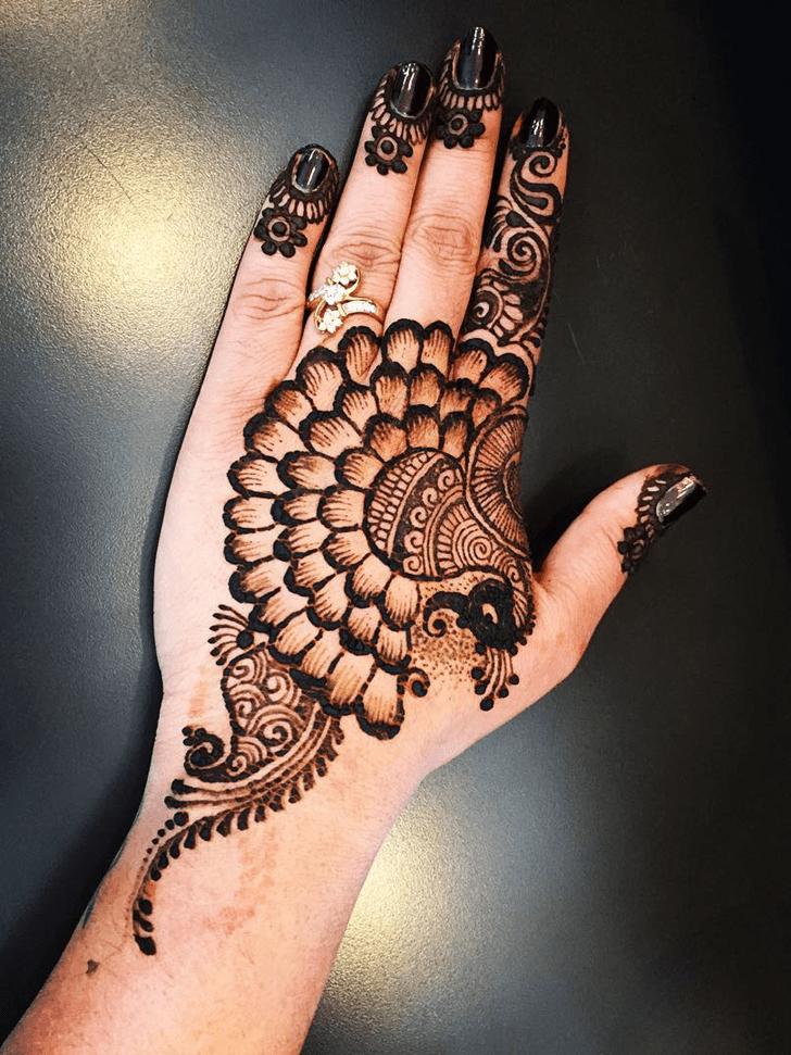 Alluring Engagement Henna Design