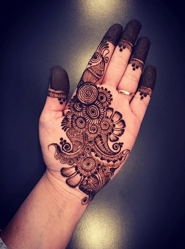 Bewitching Engagement Henna Design