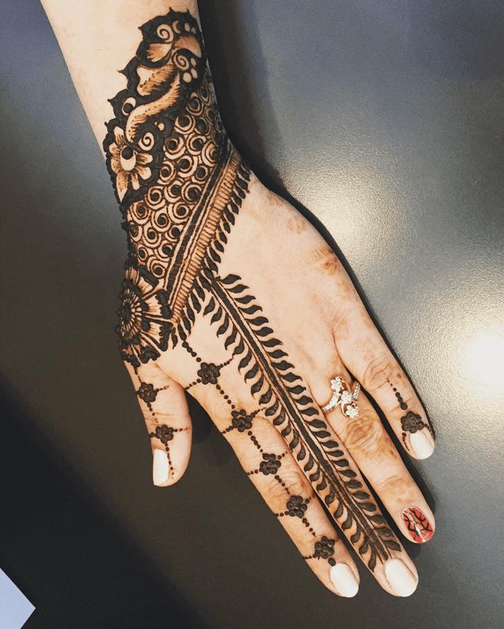 Captivating Engagement Henna Design