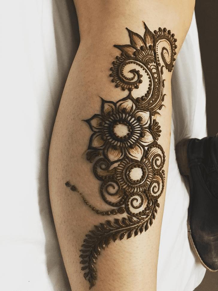 Classy Engagement Henna Design