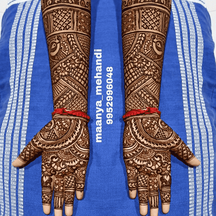 Bewitching Faridabad Henna Design