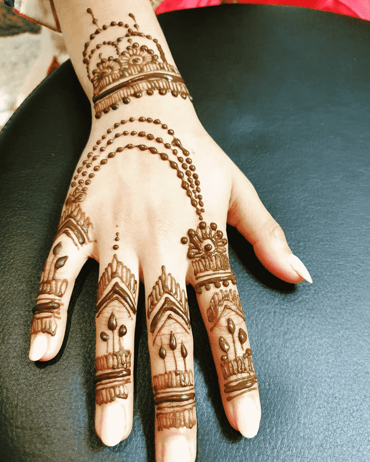 Finger Henna design