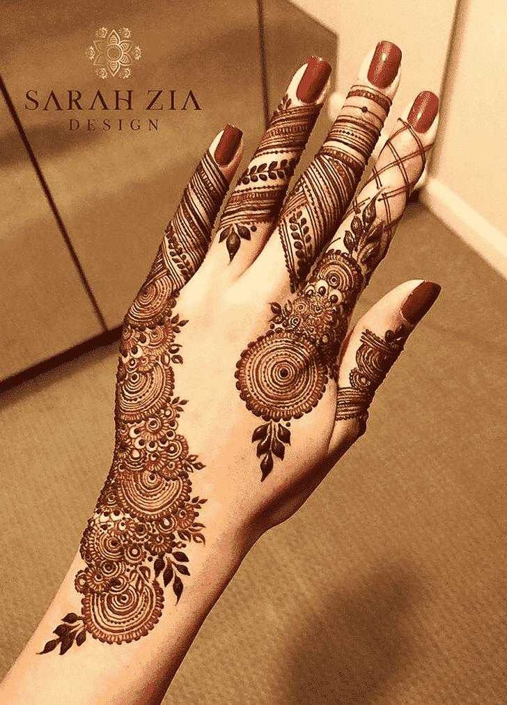 Excellent Finger Henna design