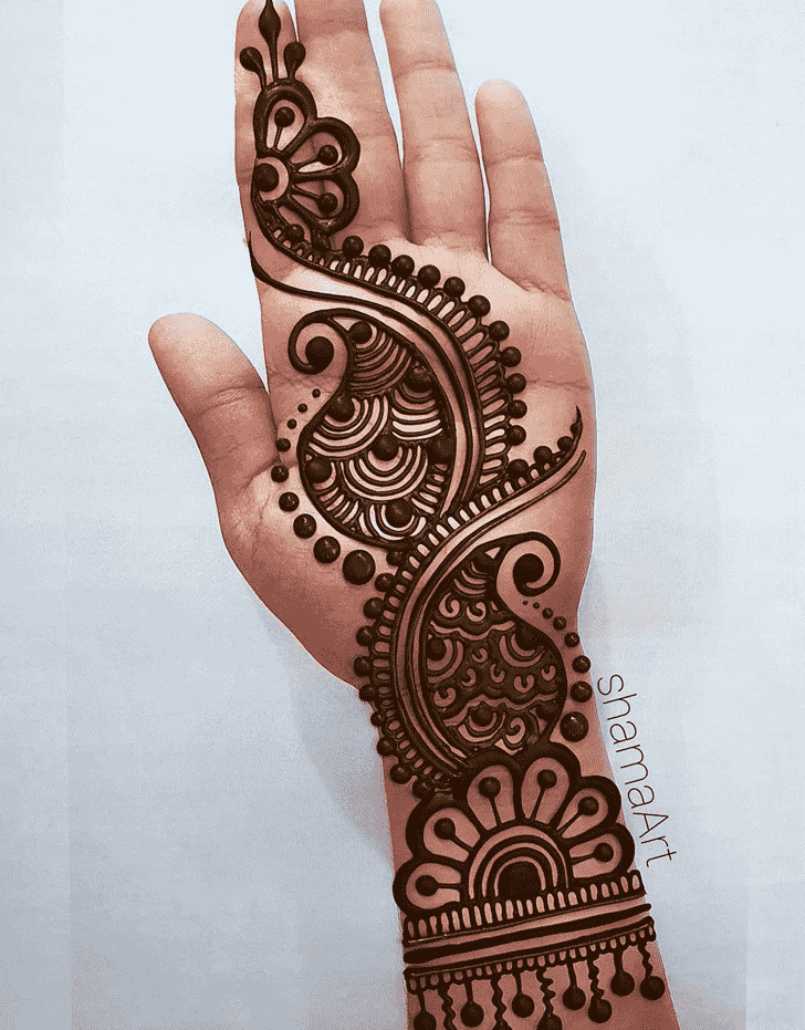 Fine Finger Henna design