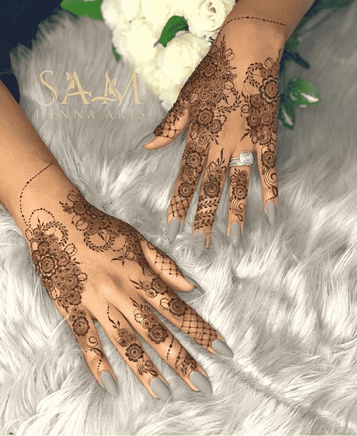 Adorable Floral Henna Design