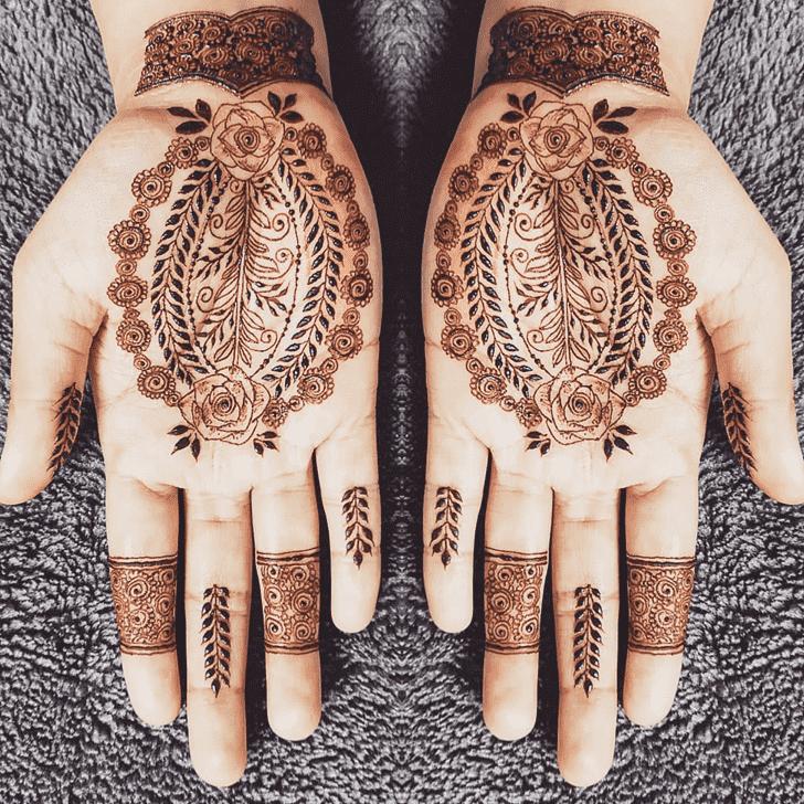 Charming Florida Henna Design
