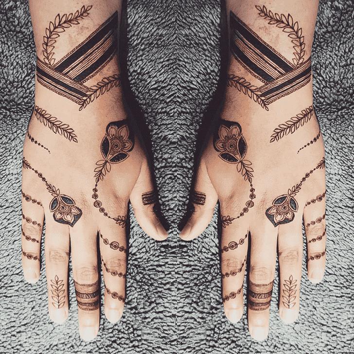 Classy Florida Henna Design