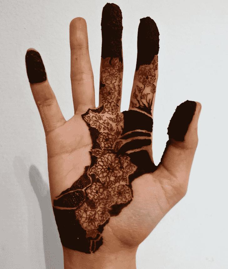 Adorable Flower Henna design