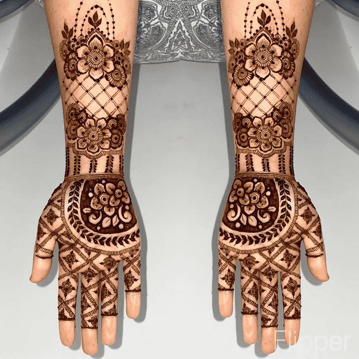 Angelic Flower Henna design