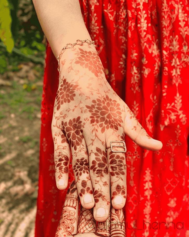 Beauteous Flower Henna design