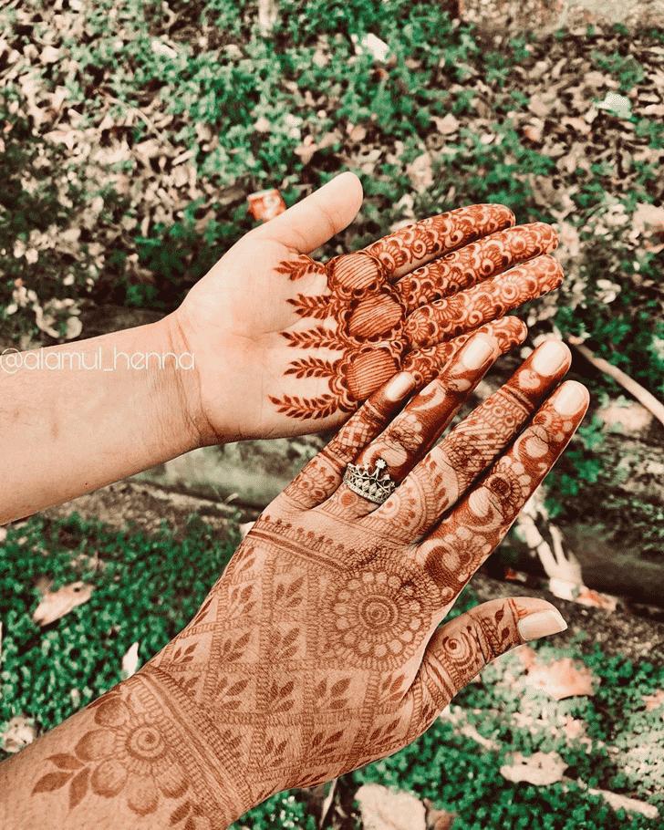 Bewitching Flower Henna design
