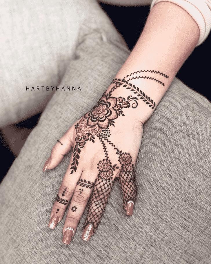 Delightful Flower Henna design