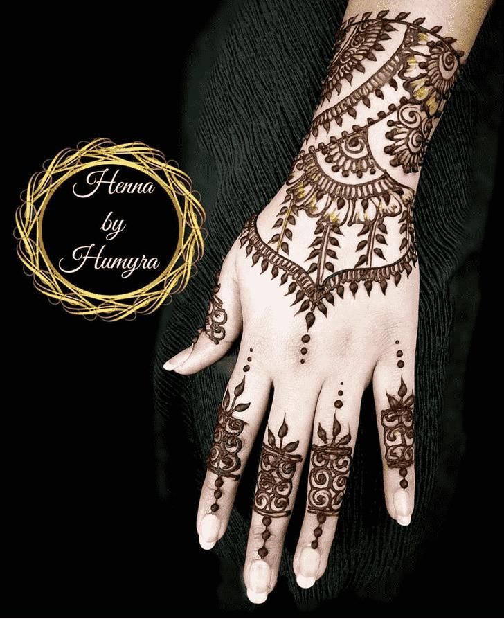 Exquisite Flower Henna design