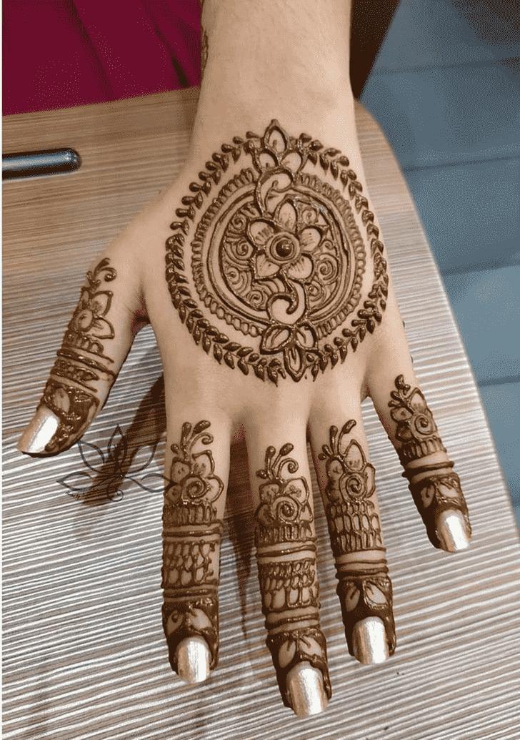 Fair Flower Henna design