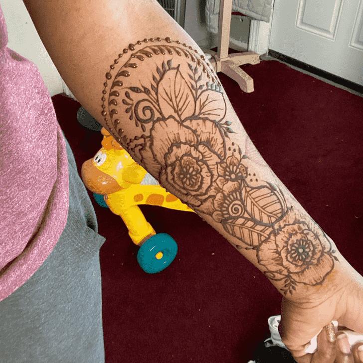 Fetching Flower Henna design
