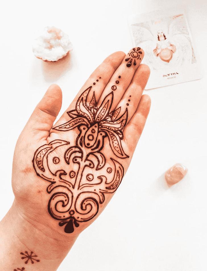 Grand Flower Henna design