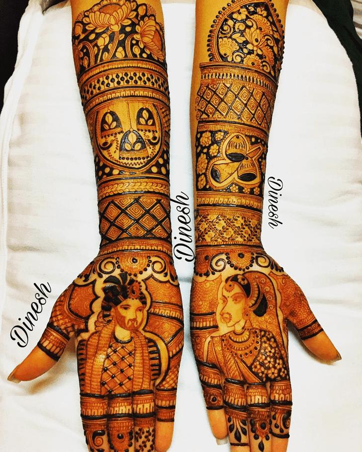 Beauteous Friendship Day Henna Design