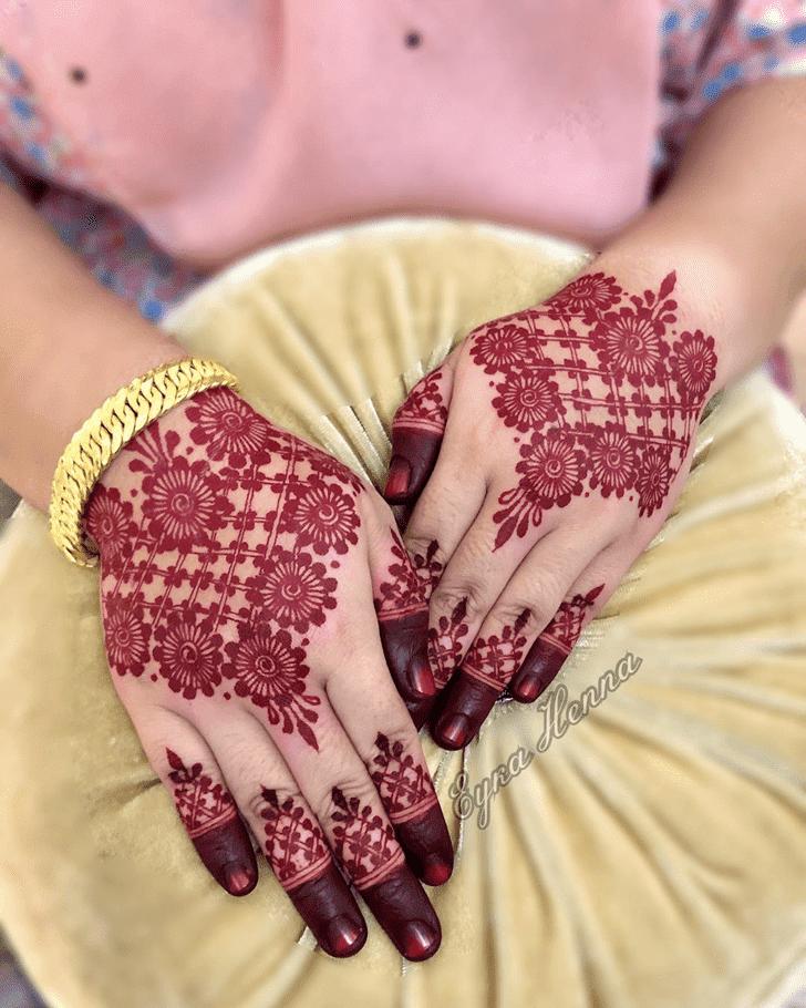 Bewitching Friendship Day Henna Design