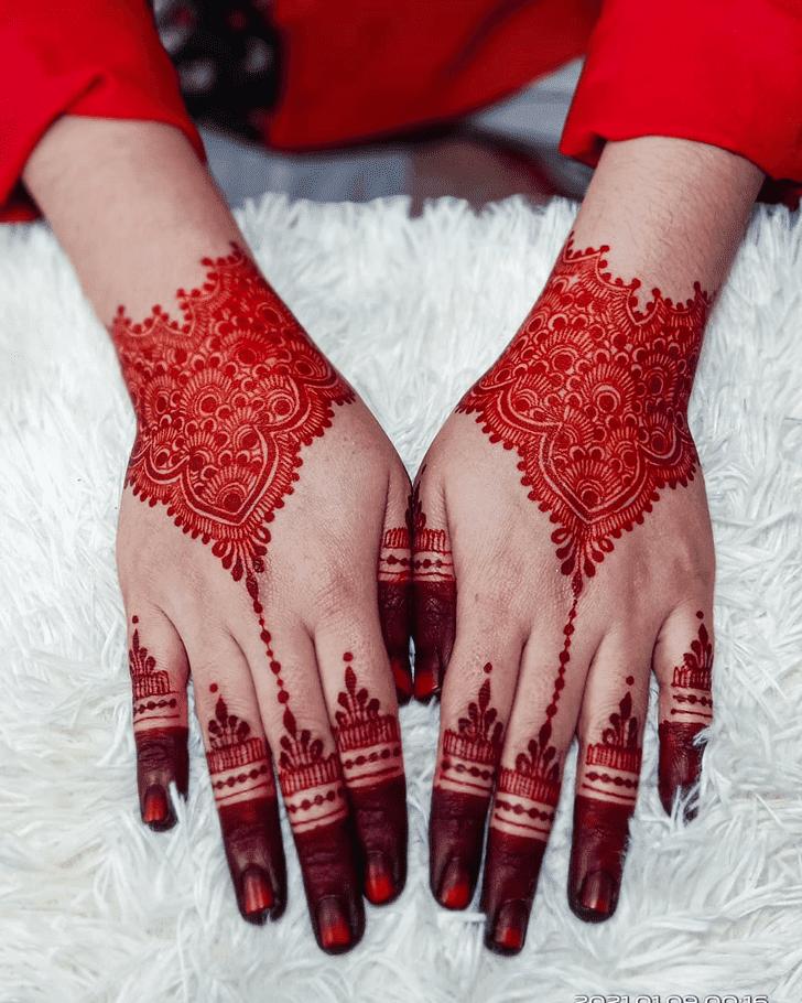 Classy Friendship Day Henna Design
