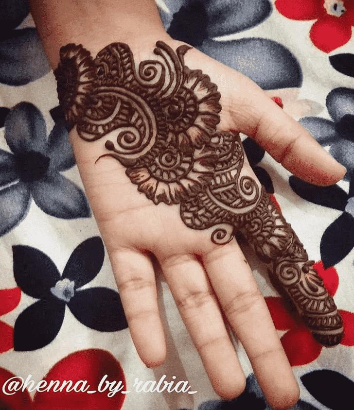 Alluring Front Hand Henna Design