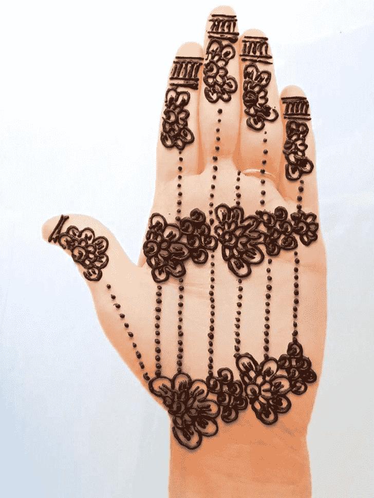 Delicate Front Hand Henna Design