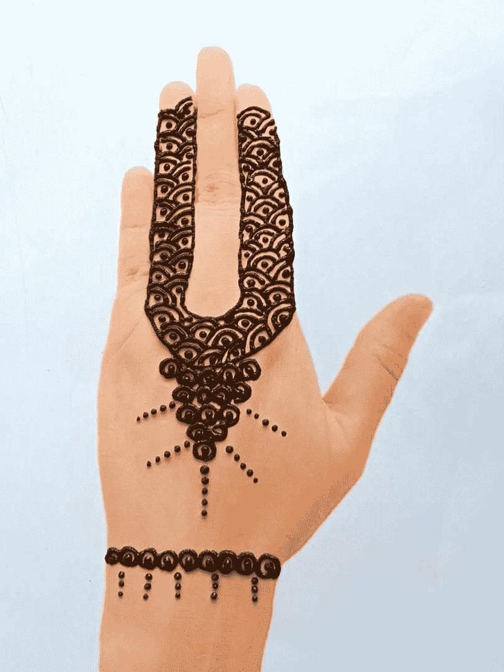 Delightful Front Hand Henna Design