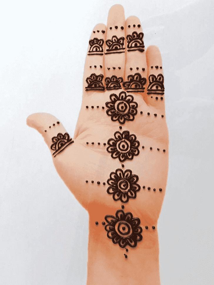 Arm Front Hand Henna Design