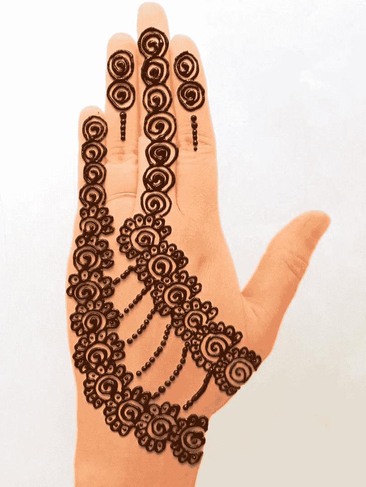 Fair Front Hand Henna Design