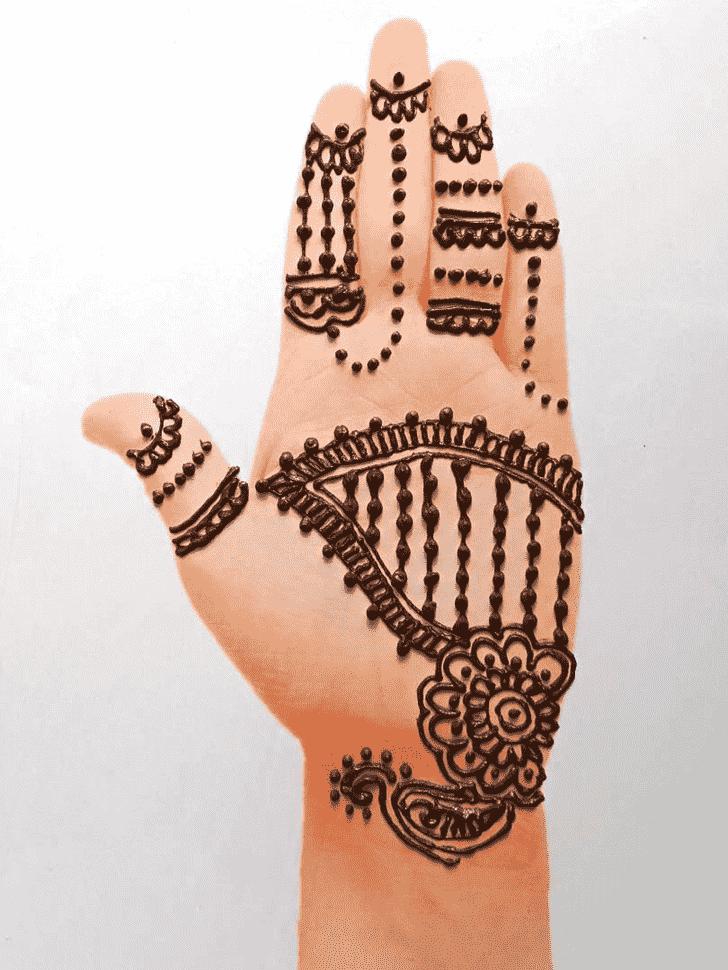 Fascinating Front Hand Henna Design