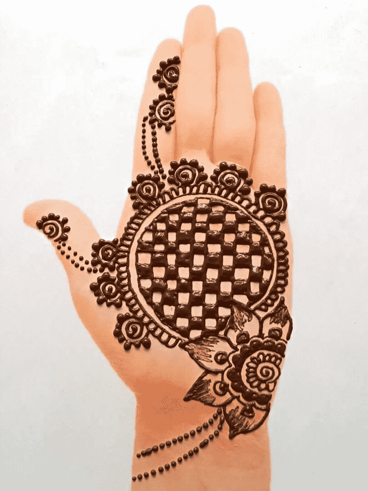 Fetching Front Hand Henna Design